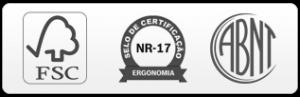 Laudo ergonômico e tem certificação Abnt