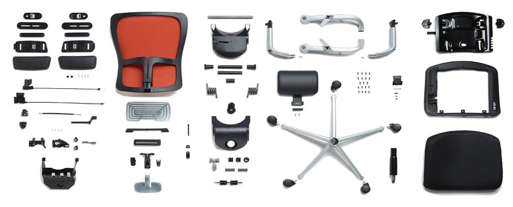 uma cadeira de trabalho de alta performance que combina bem-estar baseado na ciência e conforto, sustentabilidade e design premiados internacionalmente.